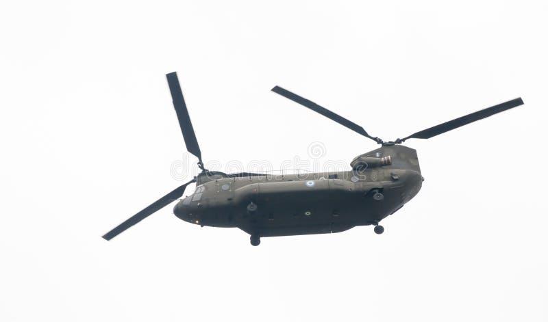 Ohi空气军事技术天游行在塞萨罗尼基 免版税库存照片
