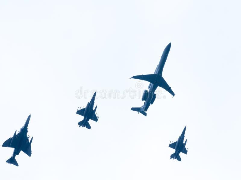 Ohi空气军事技术天游行在塞萨罗尼基 库存照片