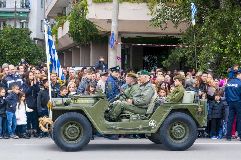 Ohi Day-Parade der Wehrtechnik in Saloniki lizenzfreie stockfotos