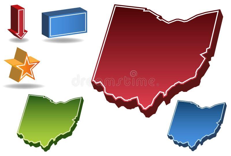 Ohio 3D lizenzfreie abbildung