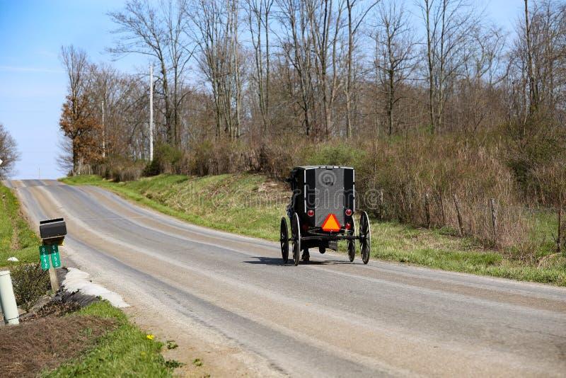 Ohio Amish kraju Amish transport zdjęcia royalty free