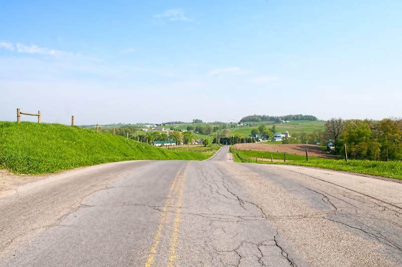 Ohio Amish landsplats royaltyfri foto