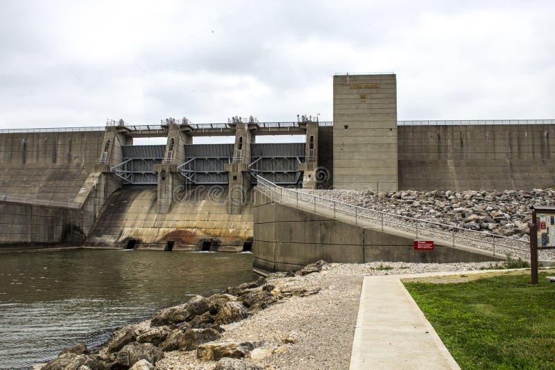 Ohio Deer Creek fördämningdelstatspark arkivbild