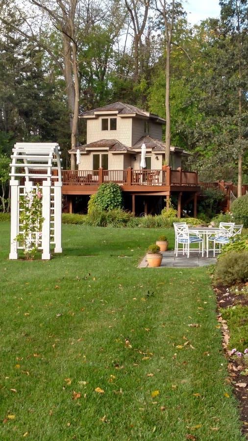 Ohio drzewny dom zdjęcia royalty free