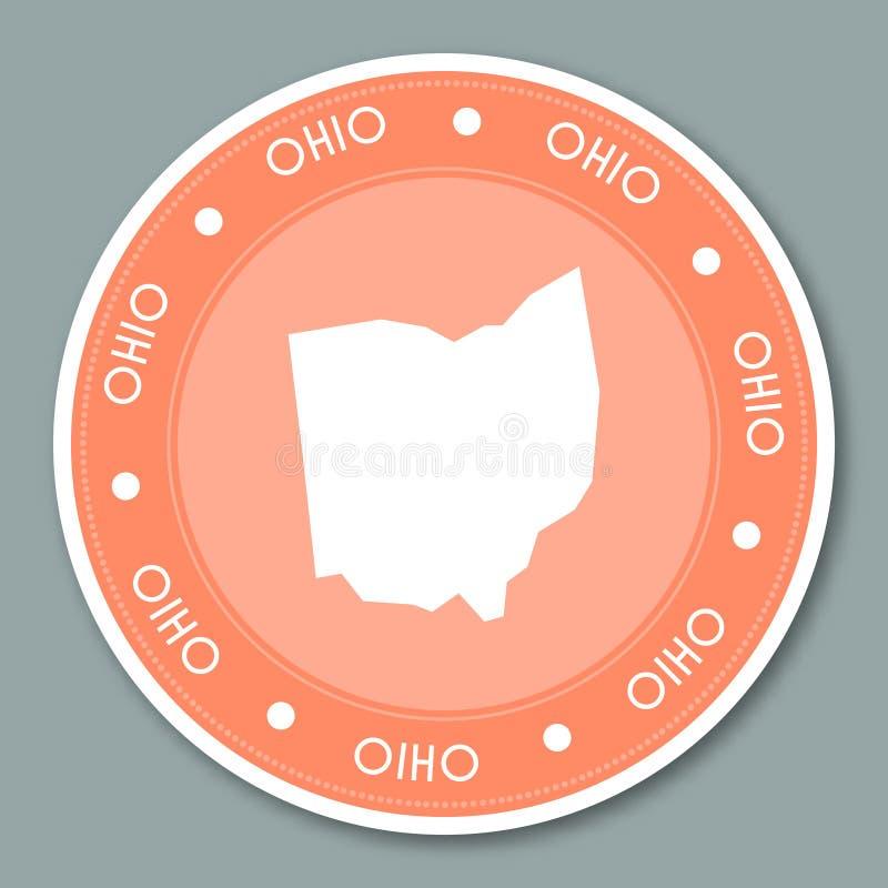 Ohio etykietki majcheru płaski projekt ilustracja wektor