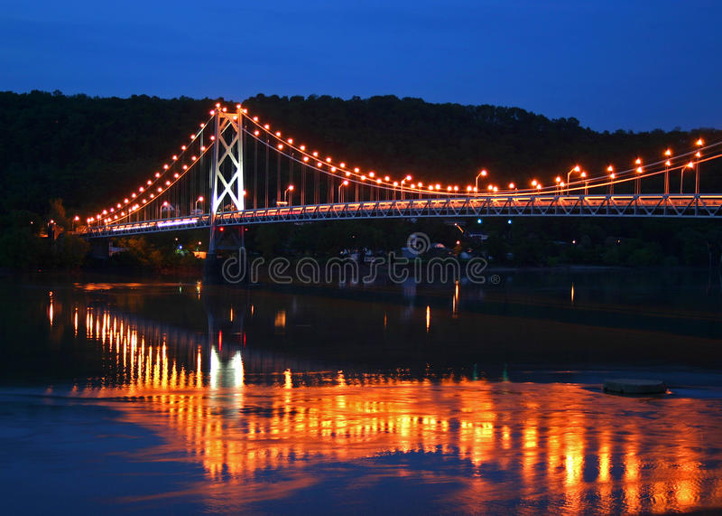 Ohio-Fluss-Brücke stockfotos