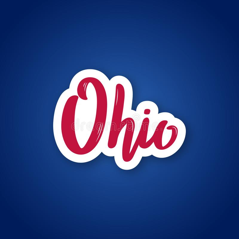 Free Ohio - Hand Drawn Lettering Name Of US State. Royalty Free Stock Photography - 128424747