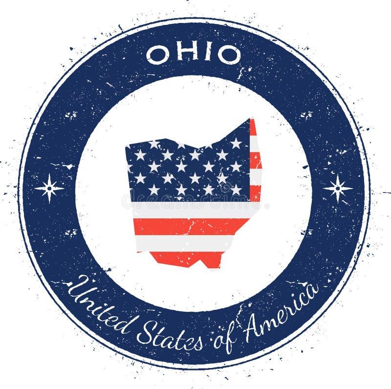 Ohio kółkowa patriotyczna odznaka ilustracji