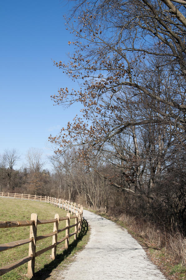 Ohio-Landschaft mit Spur stockbild