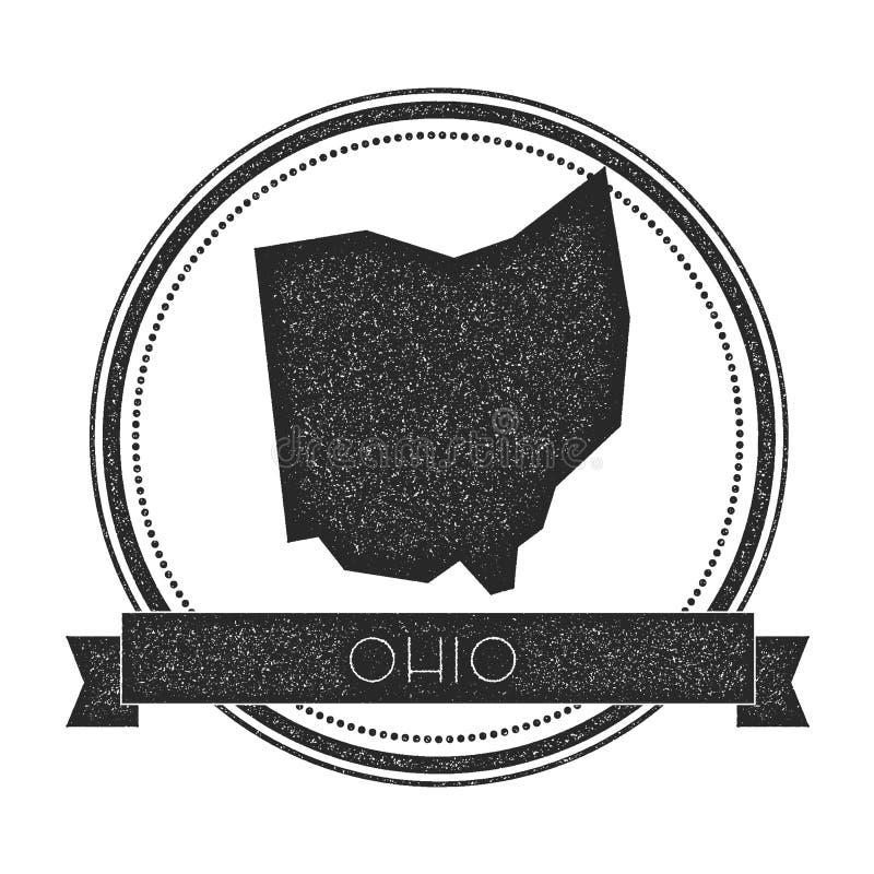 Ohio mapy wektorowy znaczek ilustracji