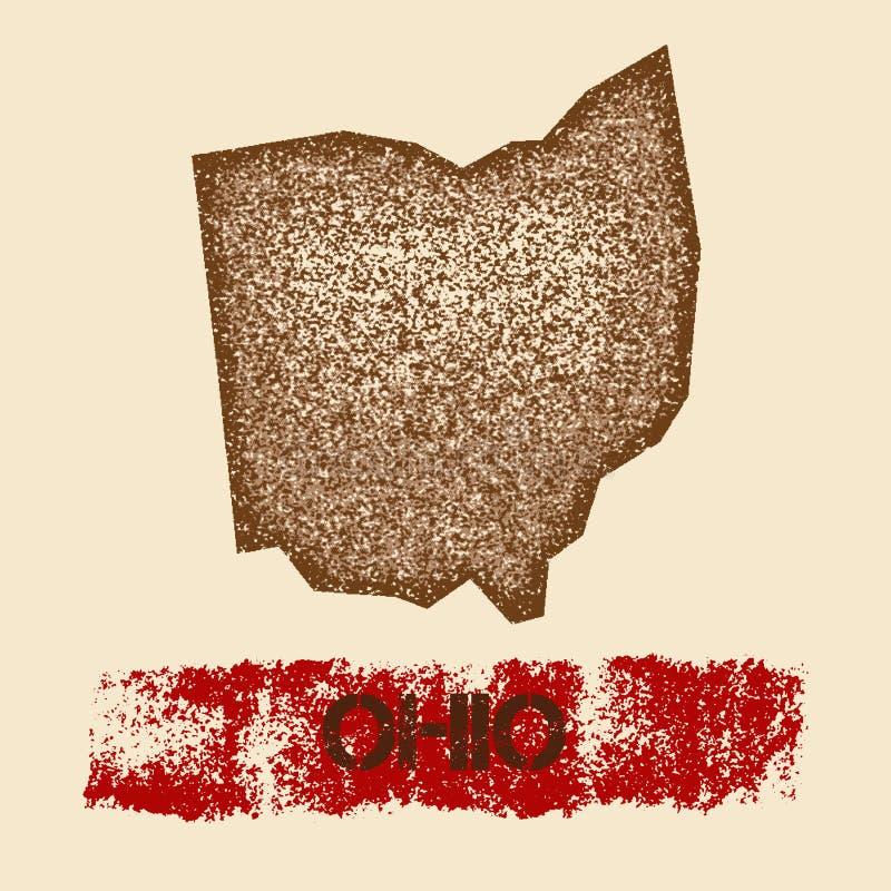 Ohio martwił mapę royalty ilustracja