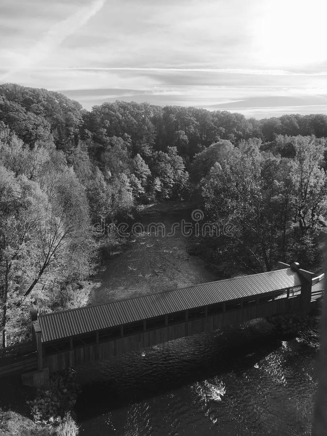 The covered bridges of Ashtabula County are the treasure of Ohio`s Ashtabula County - OHIO. Ohio is a midwestern U.S. state stretching from the Ohio River and royalty free stock images