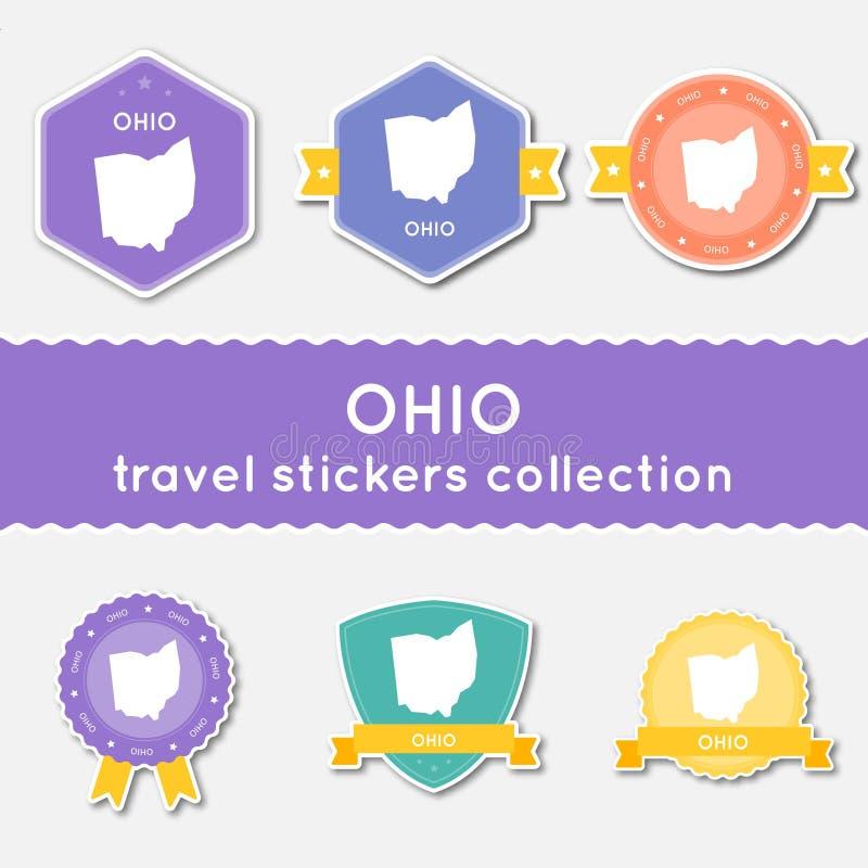 Ohio podróży majchery inkasowi ilustracja wektor
