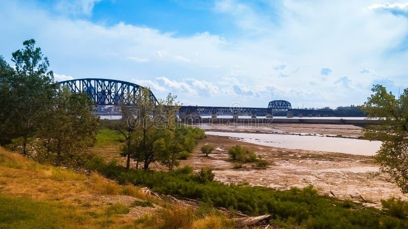 Ohio River bro Indiana Kentucky arkivbild