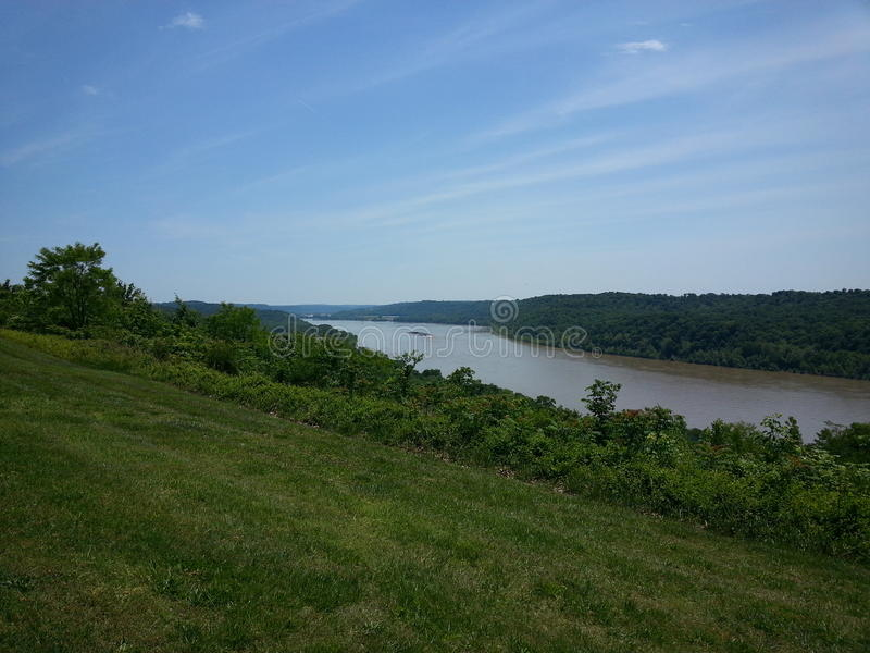 Ohio River from Overlook. In Leavenworth Indiana stock image