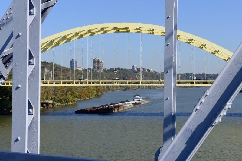 Ohio River pråm arkivfoto