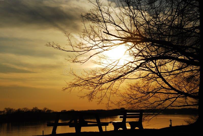 ohio river słońca zdjęcia royalty free
