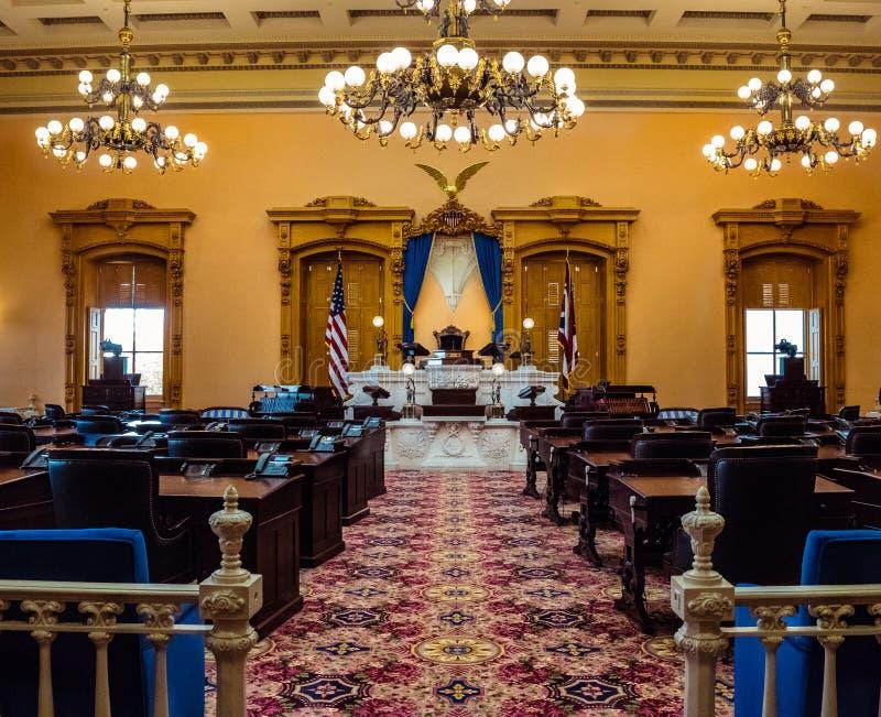 Ohio senatkammare royaltyfria foton