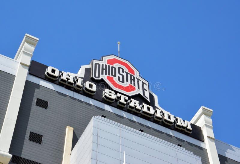 Ohio Stadium sign in Columbus, OH stock photo