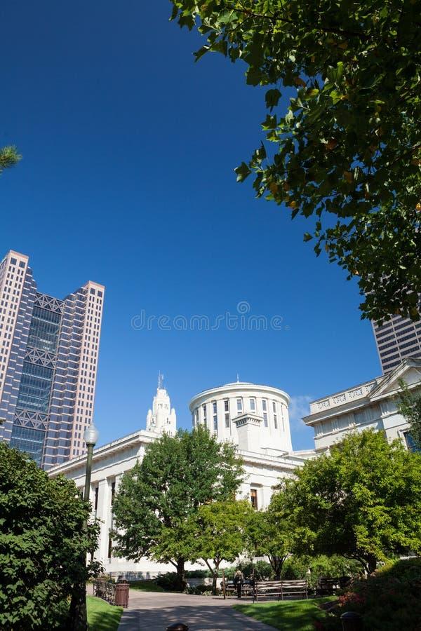 Ohio Stan Dom & Capitol Budynek obrazy stock