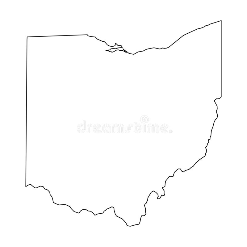 state of ohio map outline Ohio Usa Outline Map Stock Illustrations 513 Ohio Usa Outline