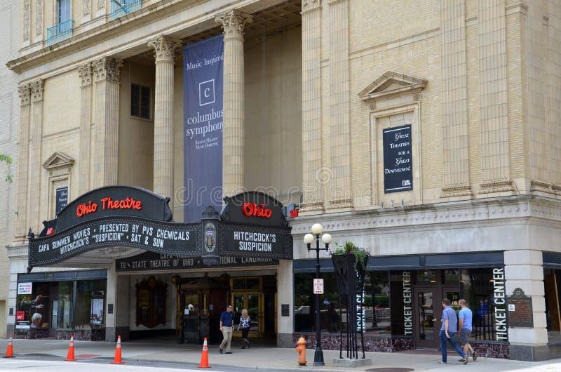 Ohio teater i Columbus, OH arkivbild