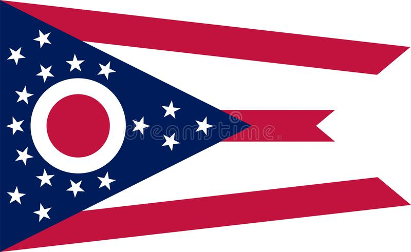 Ohio vector flag. Illustration. United States of America royalty free illustration