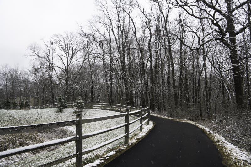 Ohio-Winter lizenzfreies stockfoto