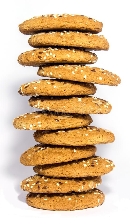 Ohomemade fresh oats cookies isolated stock photos