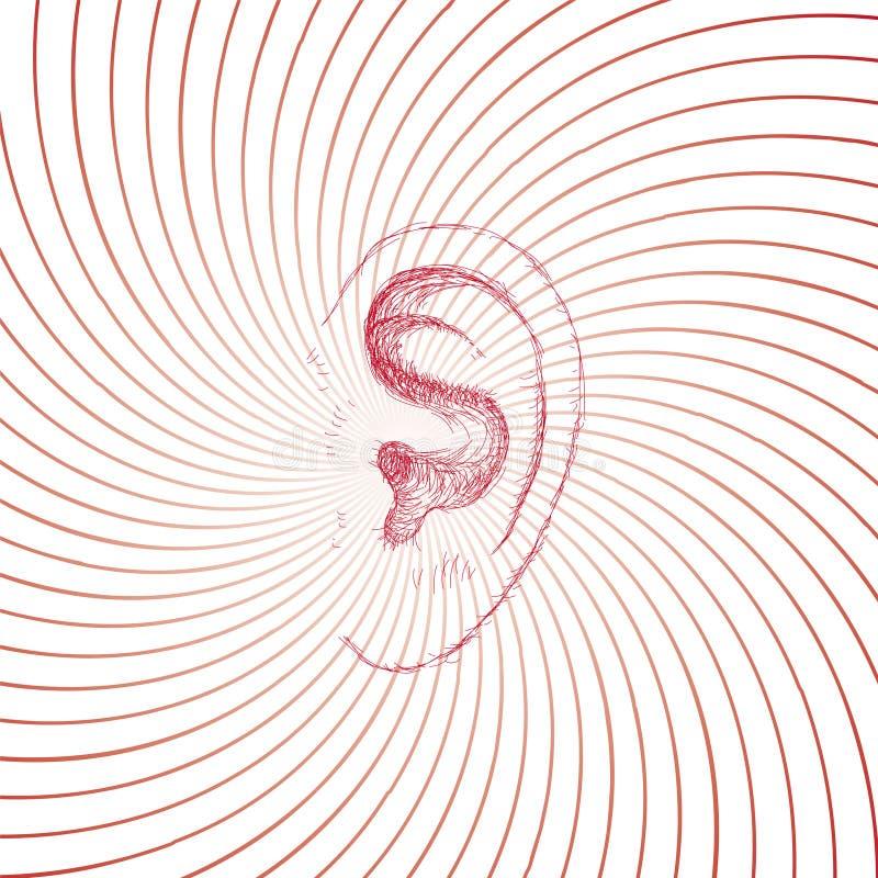 Ohr vektor abbildung