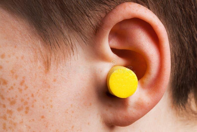 Ohrenpfropfen stockfotos