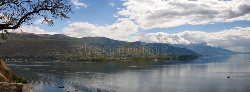 ohrid македонии озера стоковая фотография