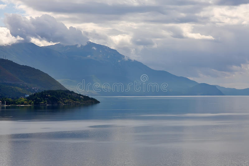 ohrid озера стоковое изображение rf