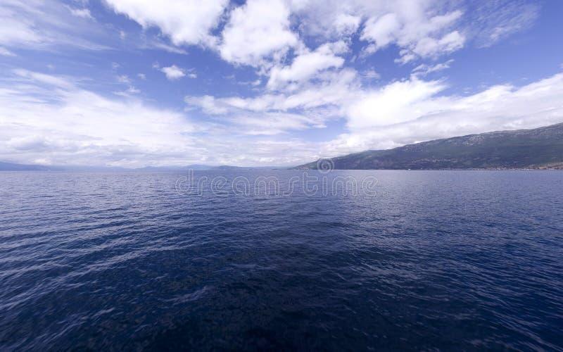 Ohrid Blau 5 lizenzfreies stockfoto