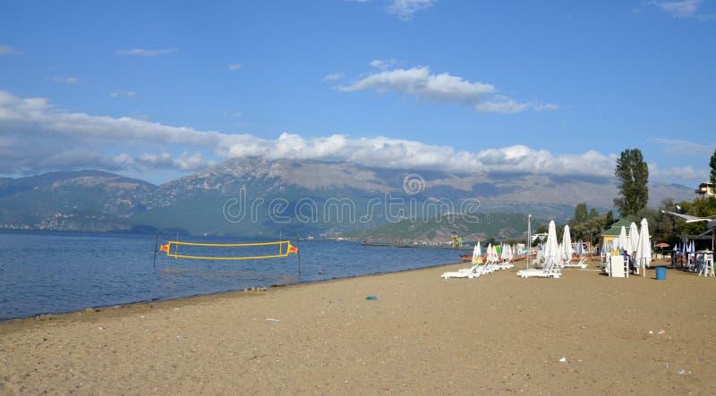 Ohrid del lago, pogradec, Albania fotografia stock libera da diritti