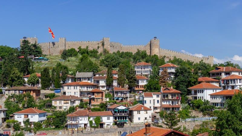 Ohrid i Samuel forteca obraz royalty free