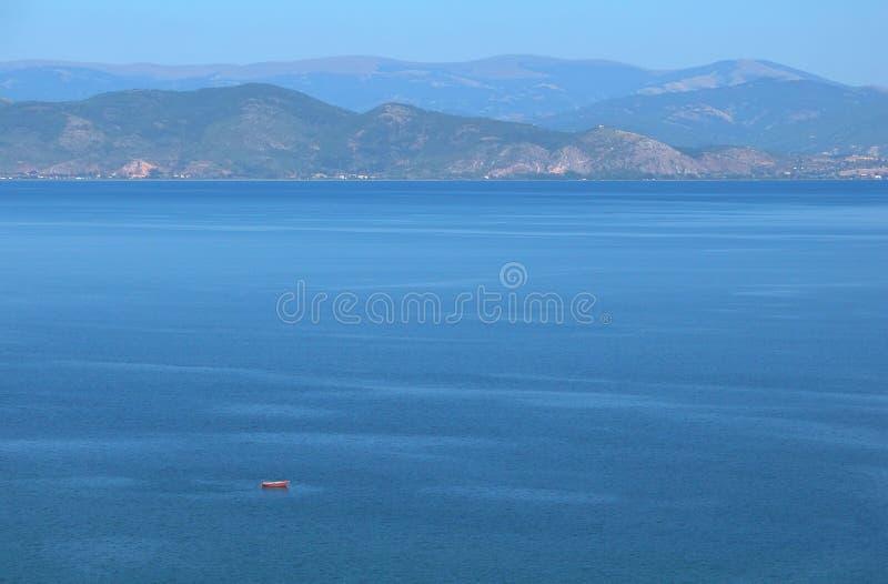 Ohrid Lake. A view of Ohrid lake stock photos