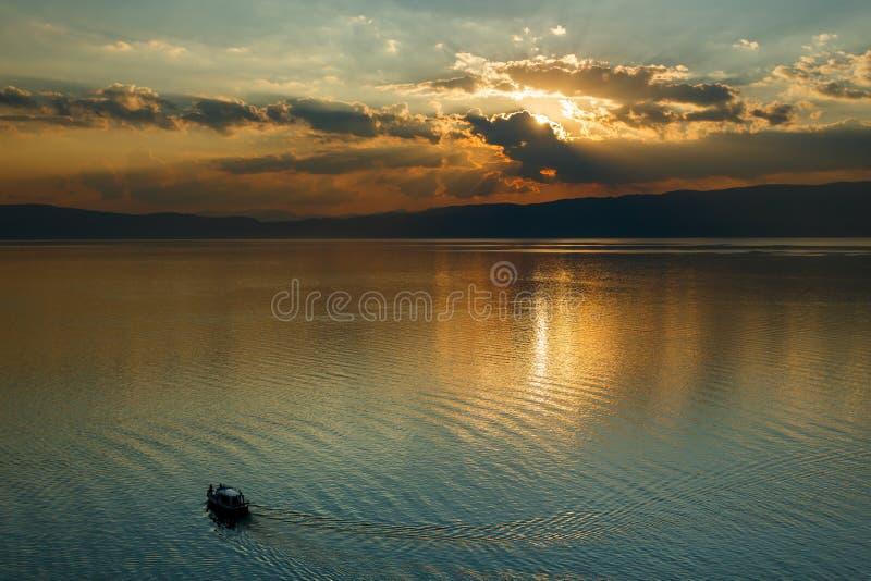 Ohrid lake, Macedonia. Ohrid lake landscape in Macedonia stock photography