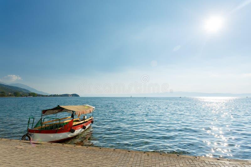 Ohrid lake, Macedonia. Ohrid lake landscape in Macedonia royalty free stock photos