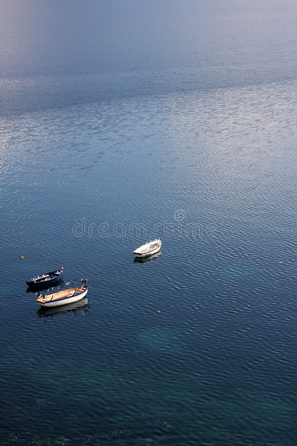 Ohrid lake, Macedonia. Boats on a Ohrid lake stock image