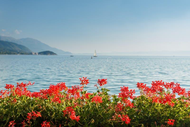 Ohrid lake, Macedonia. Ohrid lake landscape in Macedonia royalty free stock image