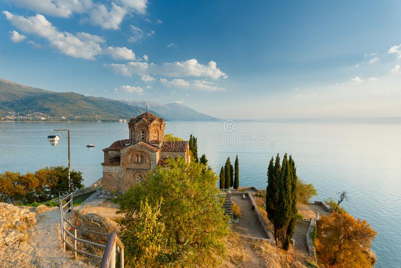 Ohrid lake, Macedonia. Ohrid lake landscape in Macedonia royalty free stock photography