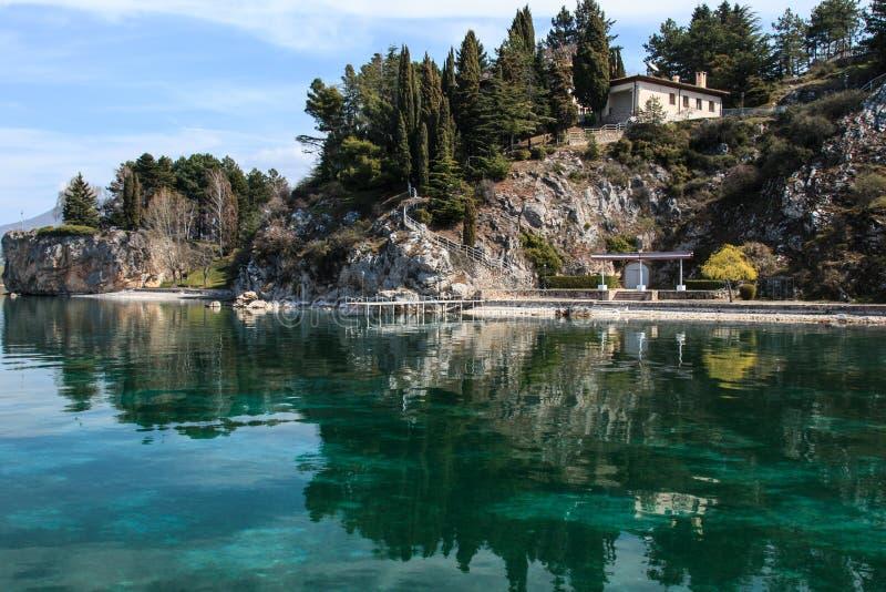 Ohrid lake,Macedonia. Ohrid lake,Tito's former residence royalty free stock photo