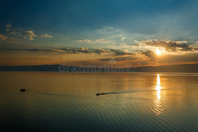 Ohrid lake, Macedonia. Ohrid lake view in Macedonia royalty free stock photo