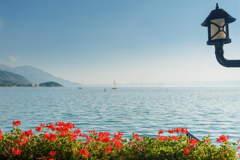 Ohrid lake, Macedonia. Ohrid lake view in Macedonia stock images