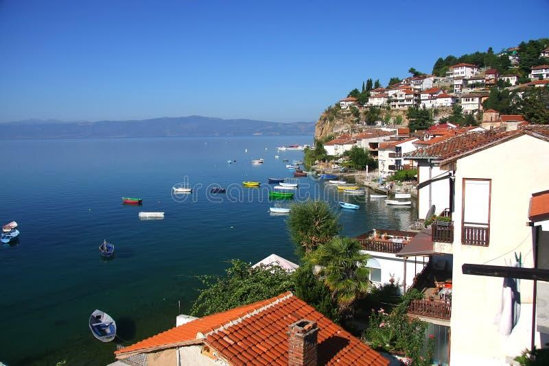 Ohrid lake, Macedonia. View on the Ohrid lake, Macedonia stock photos