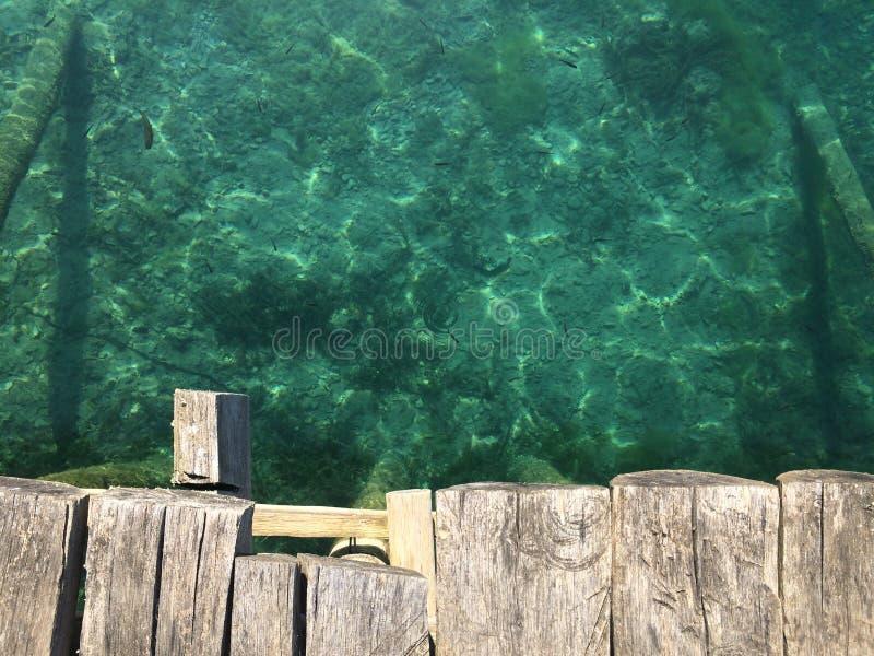 Ohrid Lake, Macedonia. Ohrid Lake near Ohrid city, on the Ohrid shore. Perfect clean water and blue sky stock image