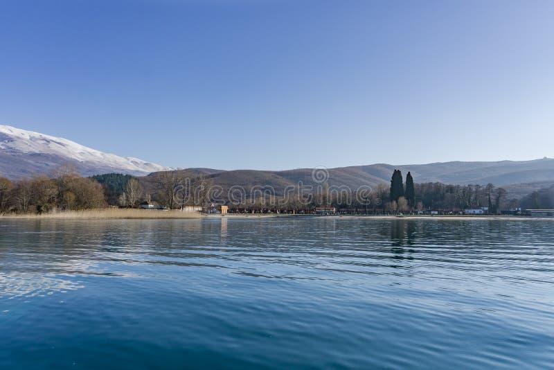 Ohrid Lake Sv Naum royaltyfri foto