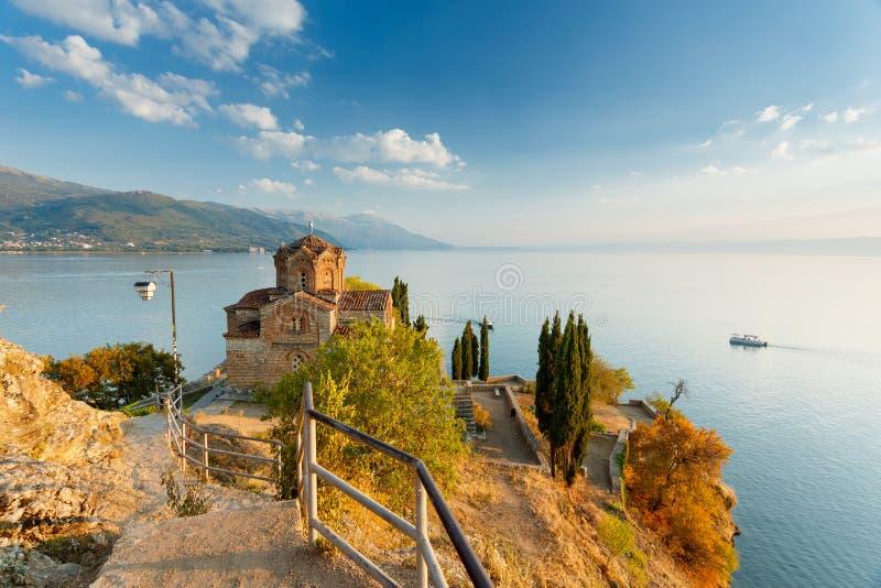 Ohrid lake, Macedonia. Ohrid lake view in Macedonia royalty free stock image