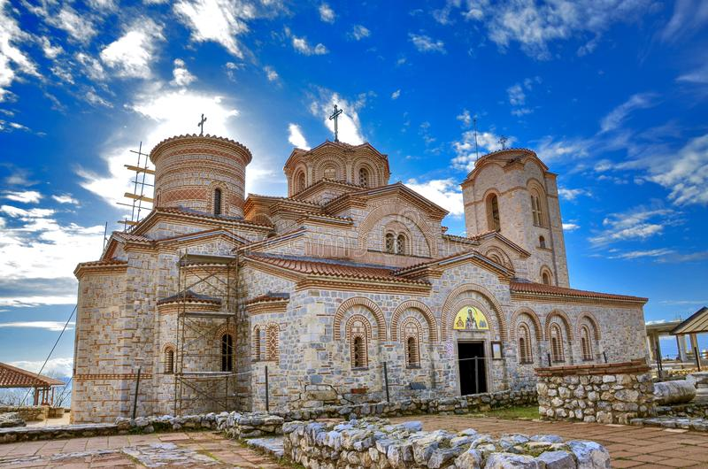"Ohrid, Macedonië - St Pantelejmon †""Plaosnik royalty-vrije stock afbeelding"